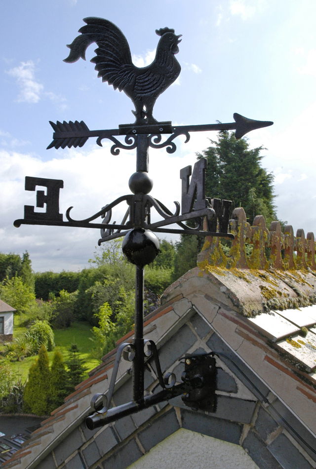 Rooster Weather Vane Black Country Metal Works