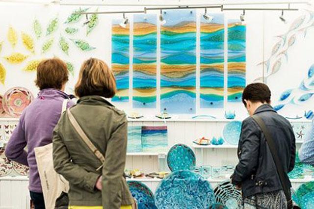 Visitors at Wisley Craft Fair