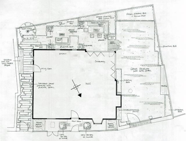 Garden Concept Design Monmouth town house Lisa Cox