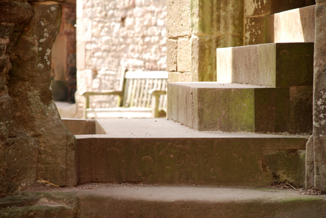 Steps at Raglan Castle Lisa Cox Designs