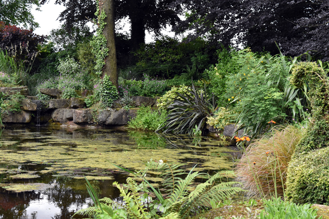 One of many ponds at Dewstow Lisa Cox Garden Designs