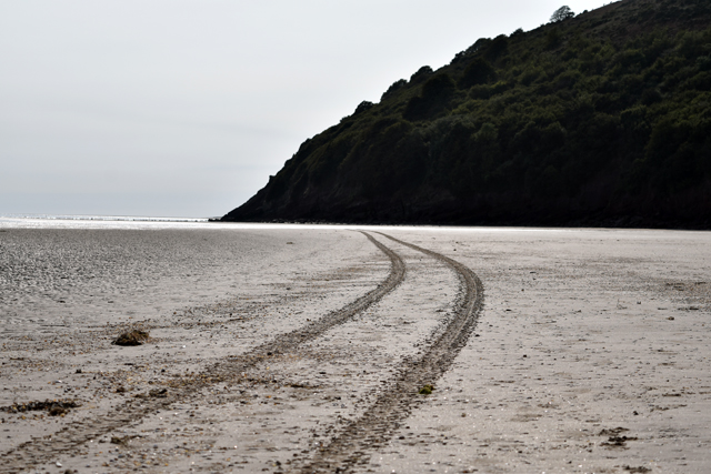 tracks-in-the-sand-at-llansteffan-beach-lisa-cox-designs